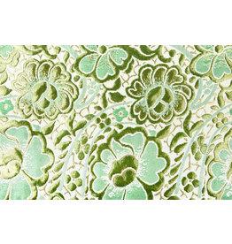 Brocade Flowers Maua Green
