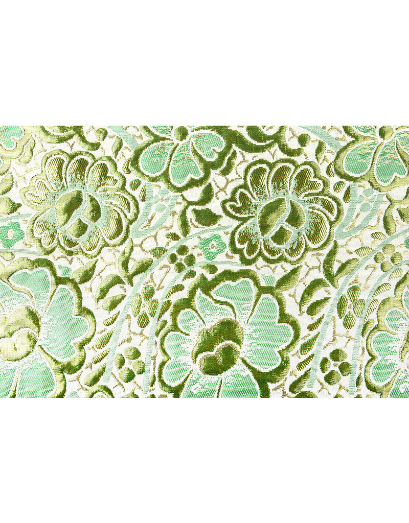 Brokat  Blumen Maua Grün