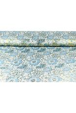 Brokat  Blumen Maua Blau