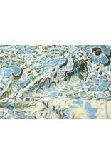 Brokaat Bloemen Maua Blauw