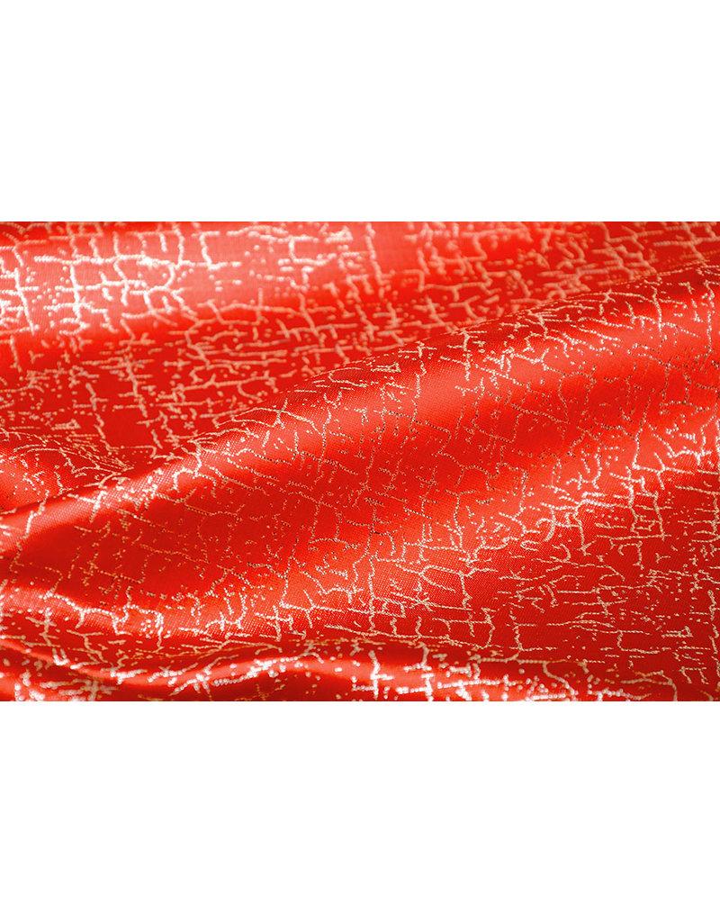 Brokat Krakelee Rot