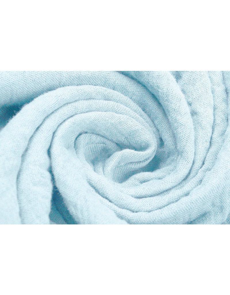 Oeko-Tex®  Baumwoll Musselin Stoff Baby Blue