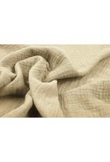 Oeko-Tex®  Baumwoll Musselin Stoff Sand