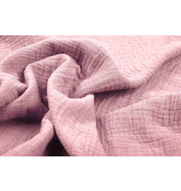 Oeko-Tex®  Baumwoll Musselin Altes Rosa