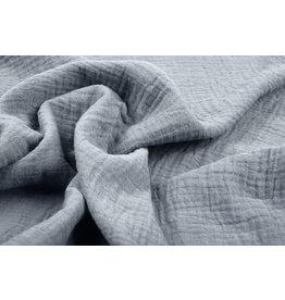 Oeko-Tex®  Double Gauze Fabric Medium Gray