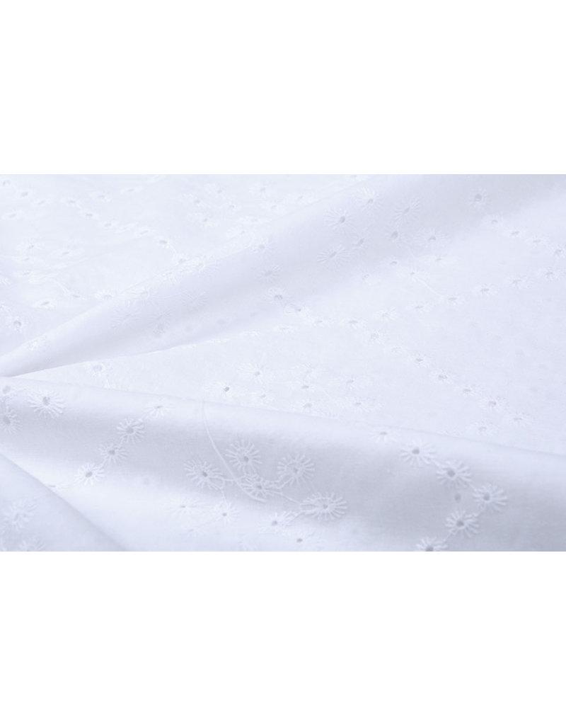 Stickerei Baumwoll Lulu Weiß