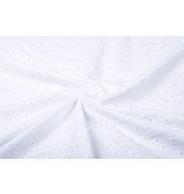 Stickerei Baumwoll Kara Weiß