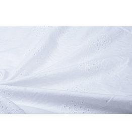 Stickerei Baumwoll Blom Weiß