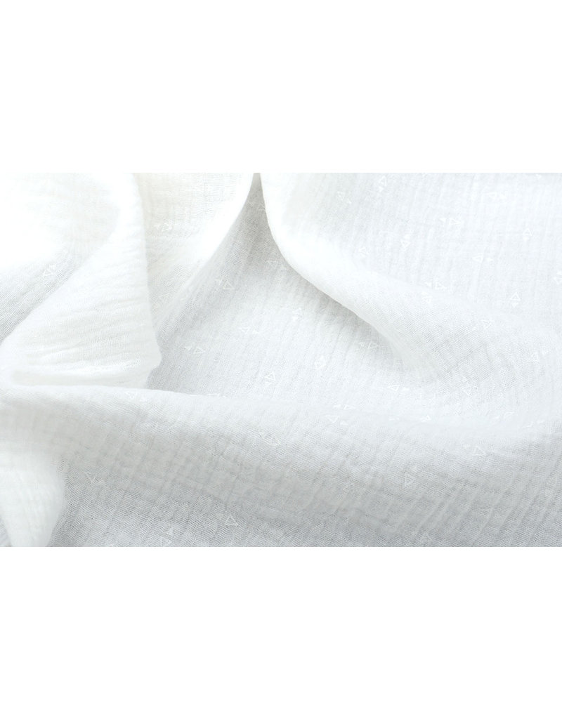 Oeko-Tex®  Hydrofiel stof Driehoekjes Creme