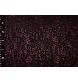 Lace on Charmeuse Bordeaux