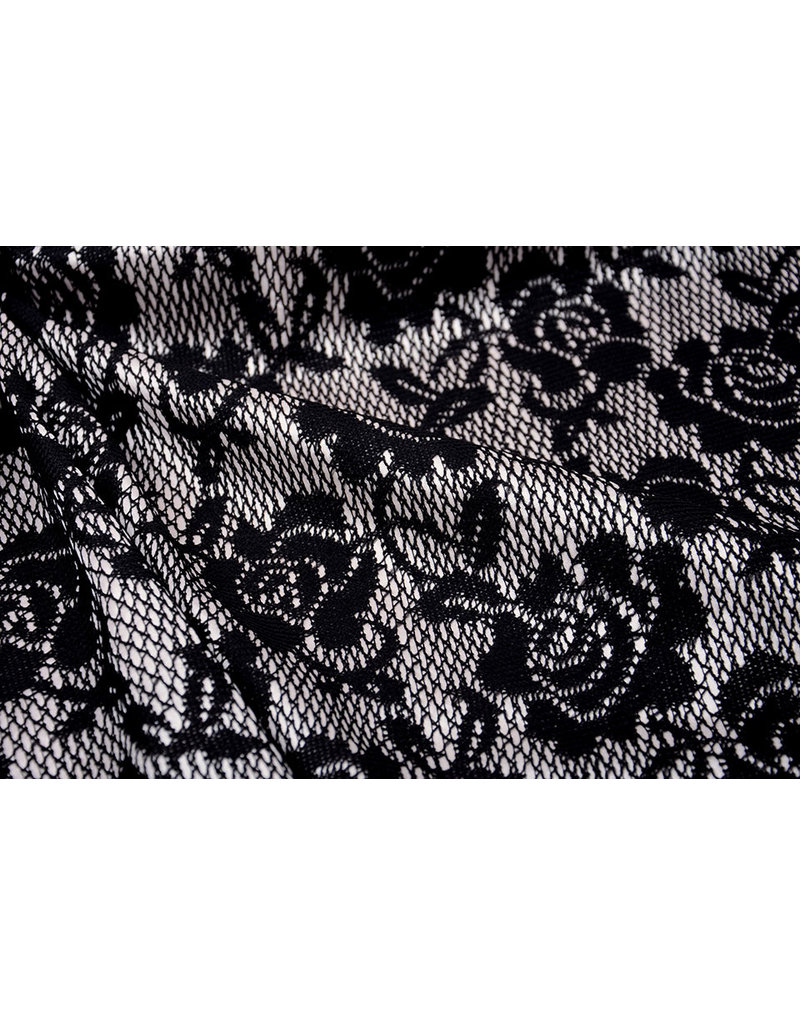 Lace on Charmeuse Beige
