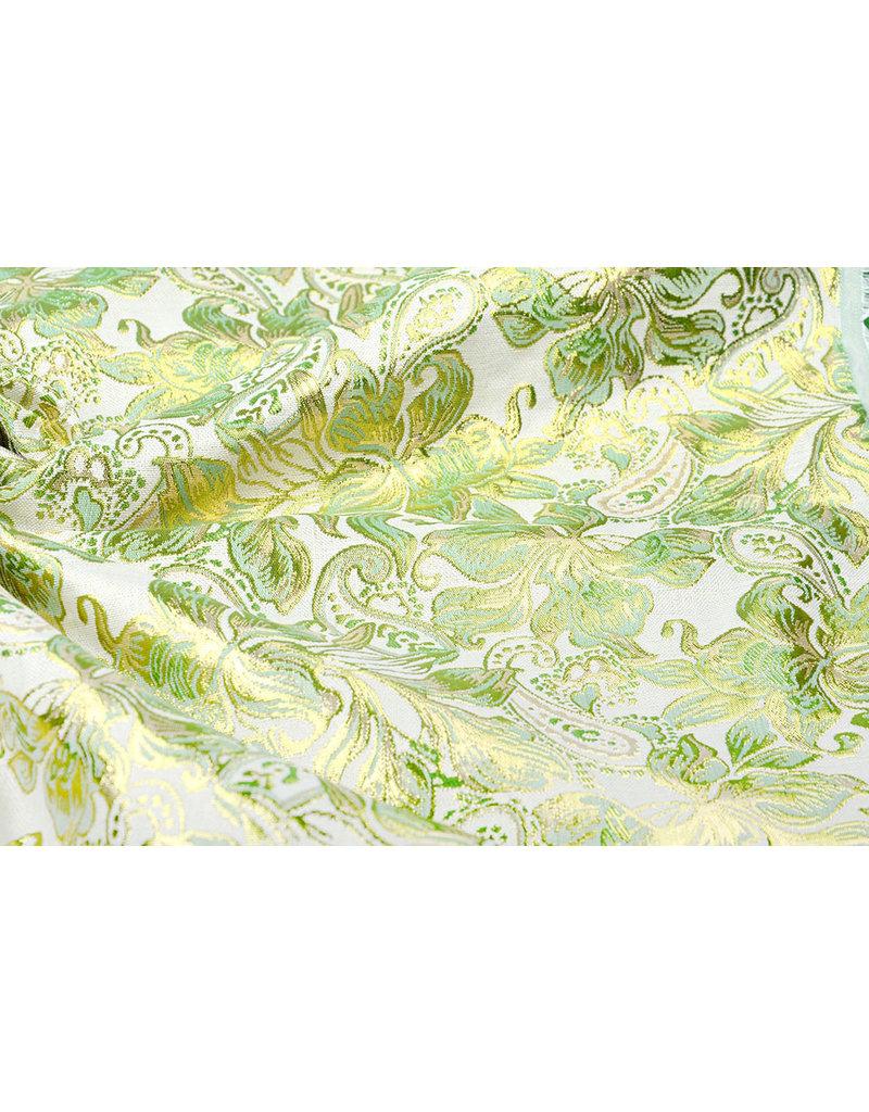 Brokat Maruva Helles altes Grün