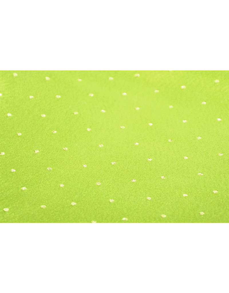 Brokat Dots Doby Limette