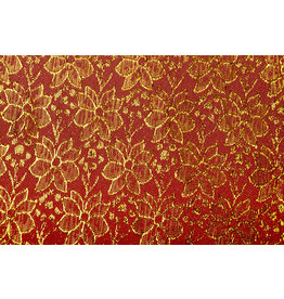 Brokaat Blomma Rood