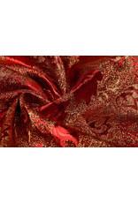 Brokat  Blume Ruva Rot