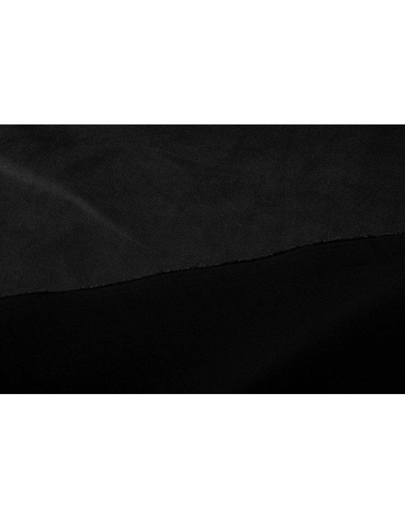 Oeko-Tex®  Leichtes Tauchen Wildleder Schwarz