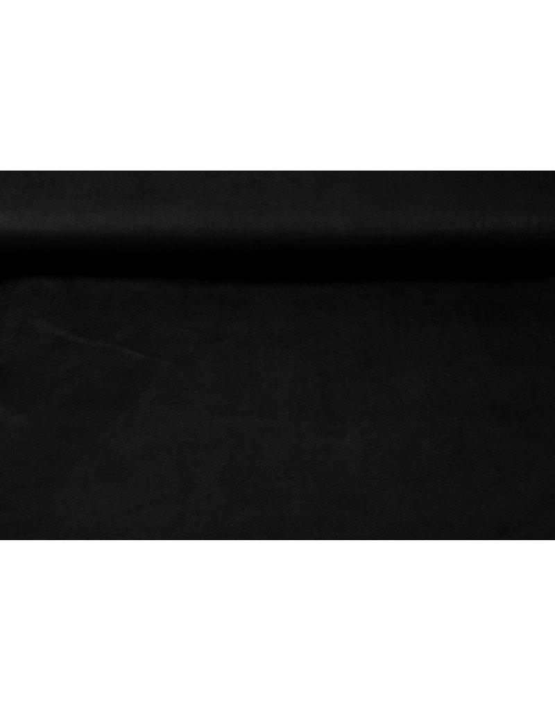 Oeko-Tex®  Light Scuba Suede Zwart