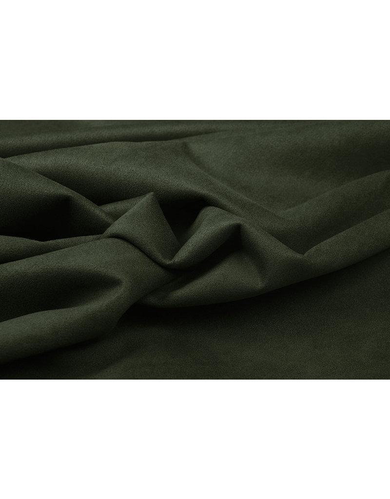 Oeko-Tex®  Leichtes Tauchen Wildleder Armeegrün