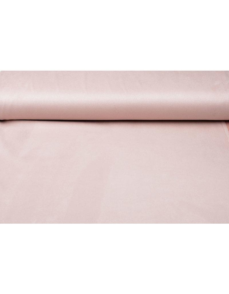 Oeko-Tex®  Light Scuba Suede Poeder Roze