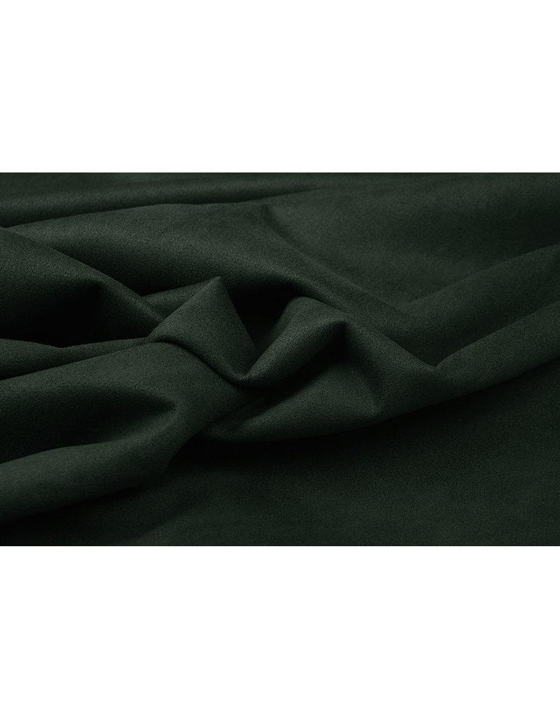 Oeko-Tex®  Light Scuba Suede Dark Army Green