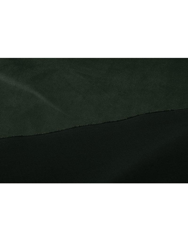Oeko-Tex®  Light Scuba Suede Donker Army Groen