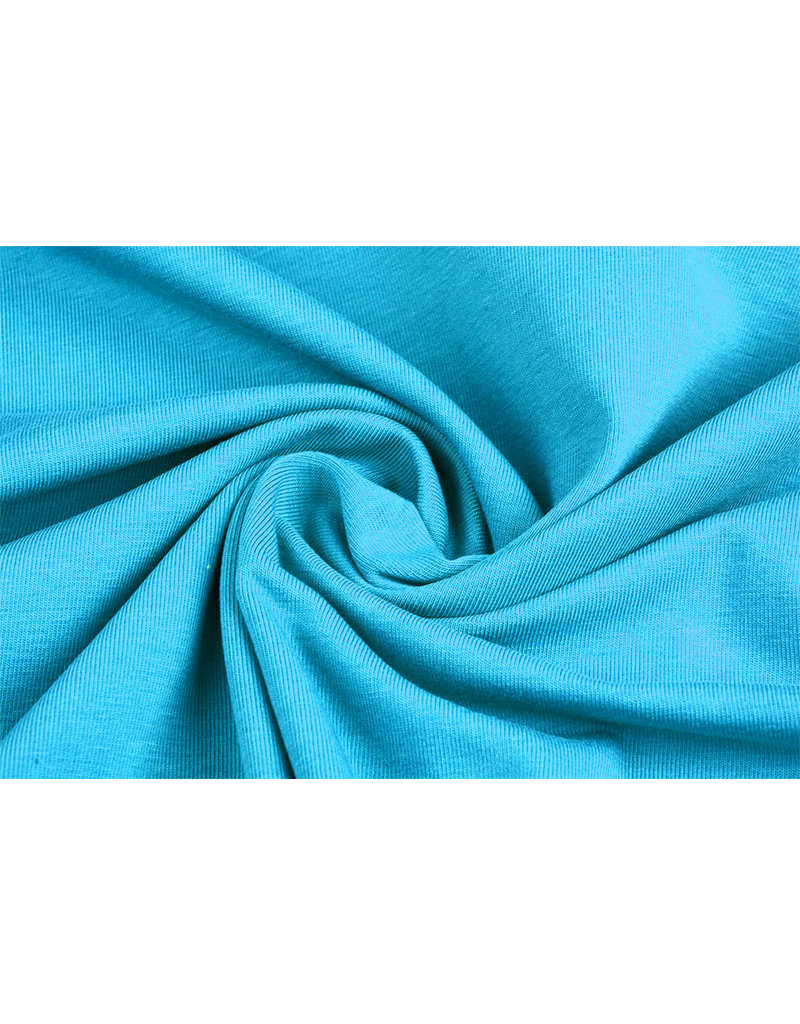 Oeko-Tex®  Cotton Jersey Aqua
