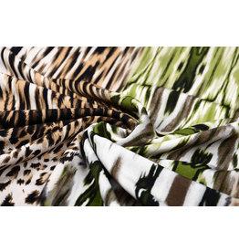 Tricot Lycra  Umucu Multi Leopardenmotiv