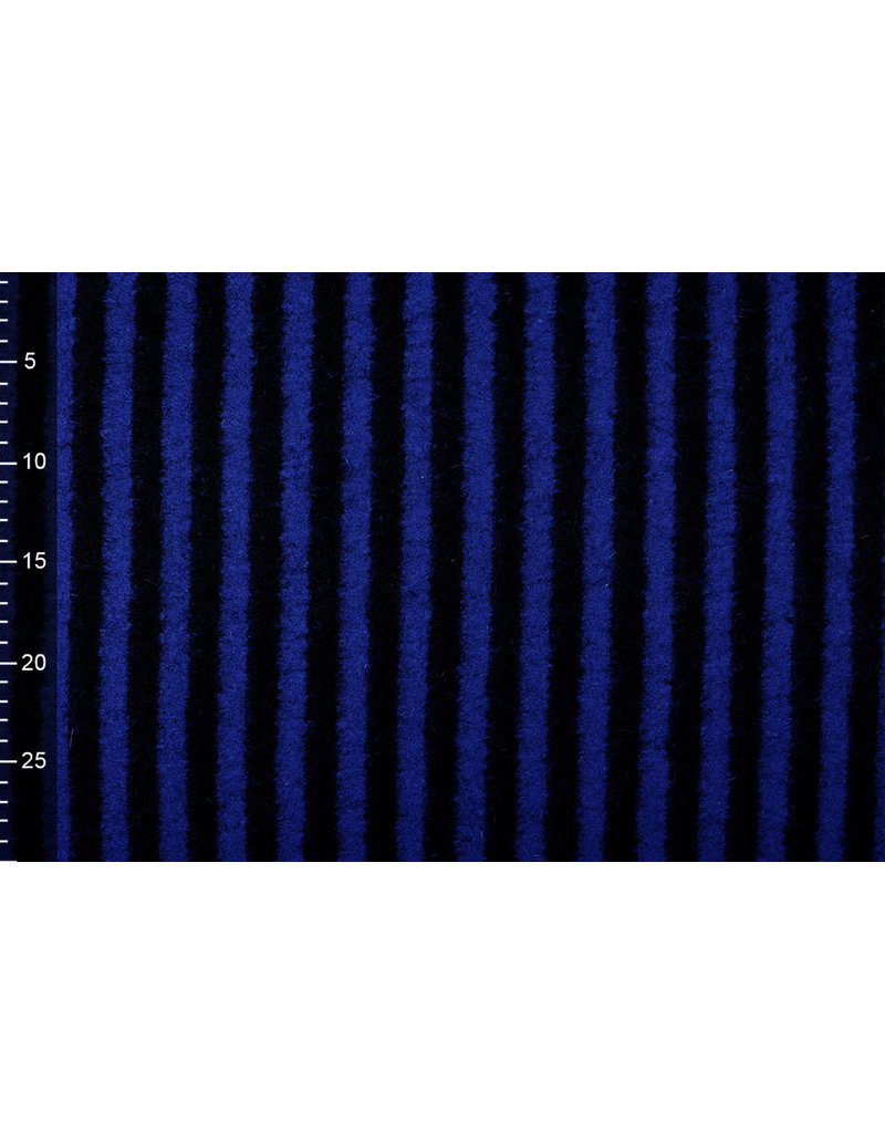 Knitted Woolen fabric Stripes Kings Blue