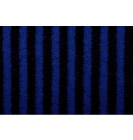 Gebreide Wollen stof Strepen Konings Blauw