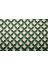 Gebreide Wollen stof Ruit Groen Geel