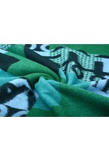Knitted Woolen fabric Quilt look Numbers Green
