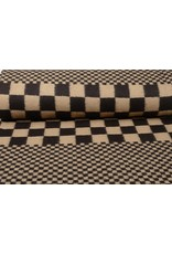 Knitted Woolen fabric Checkered Sand