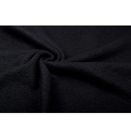 Gebreide Wollen stof Zwart