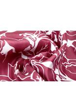 Polyester-Satin Maua Weinrot