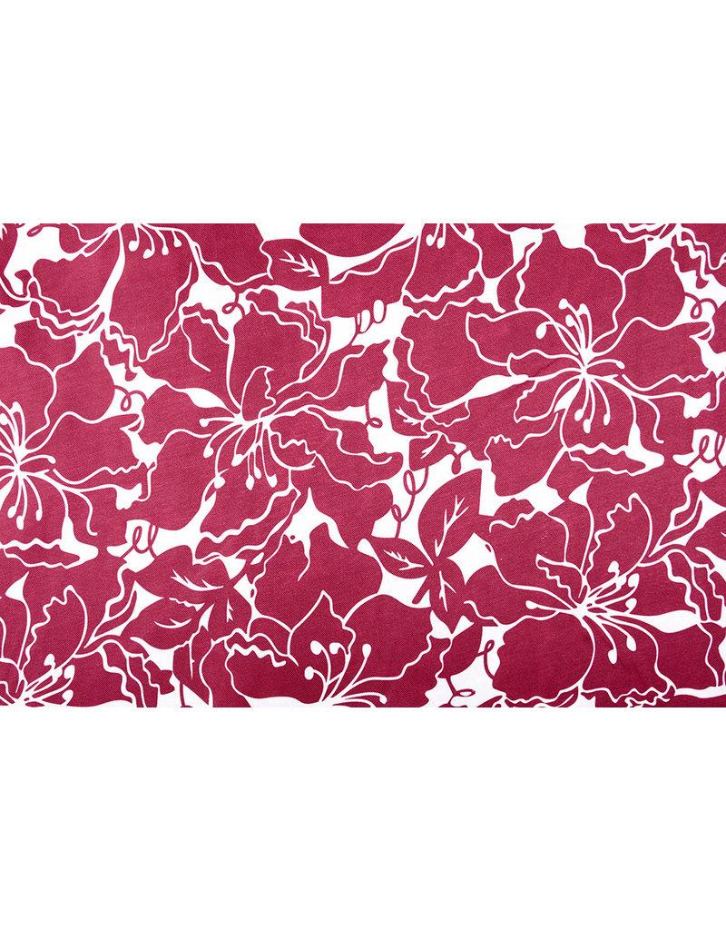 Poly Satin Maua Wine Red