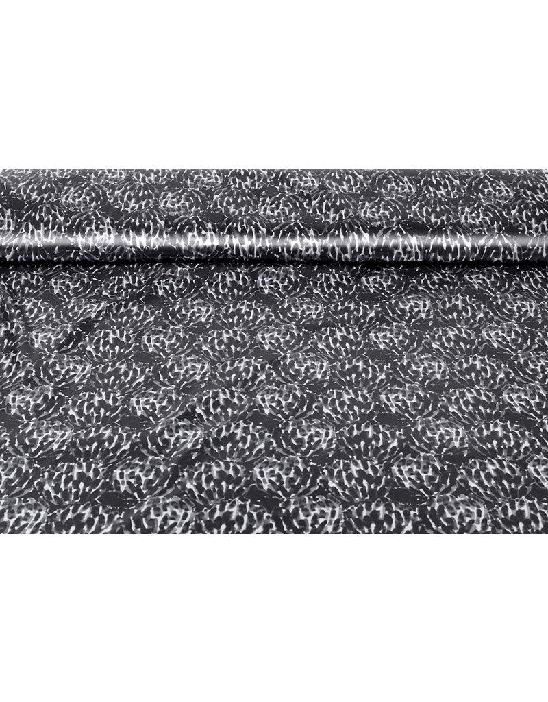 Polyester-Satin Chapisha Grau