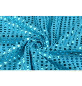 Sequins on Lurex Aqua