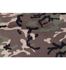 Army Polyester Cotton Brown-Green