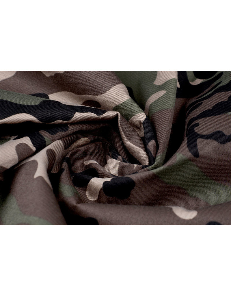 Armee Polyester Baumwolle Braun-Grün