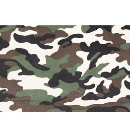 Army Polyester Cotton Dark brown-green