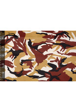 Armee Polyester Baumwolle Ocker Röt