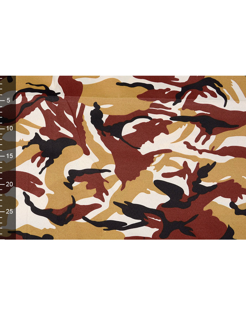 Army Polyester Cotton Ochre Red