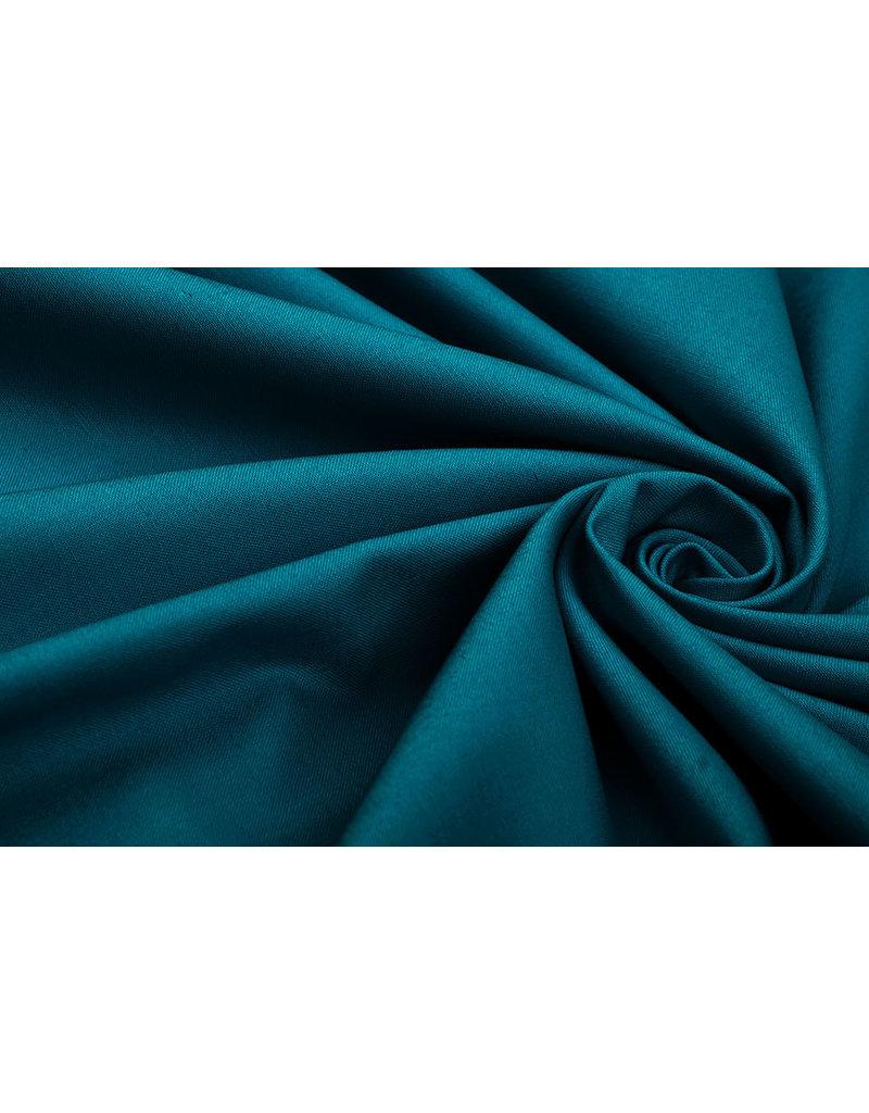100% Cotton Petrol Blue