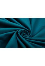 100% Baumwolle Petrol Blau