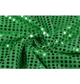 Pailletten auf Lurex Grasgrün