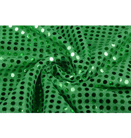 Sequins on Lurex Grassgreen