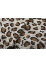 Gestrickter WollStoff Leopardenmotiv