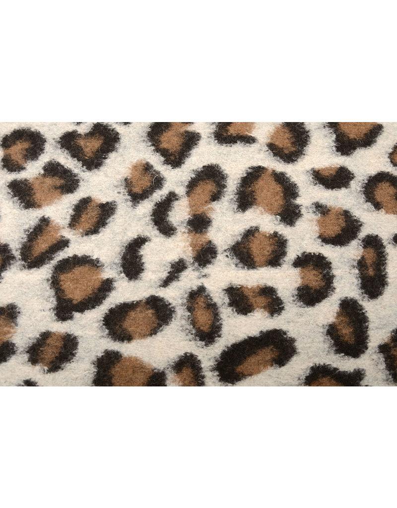 Gebreide Wollen stof Panterprint