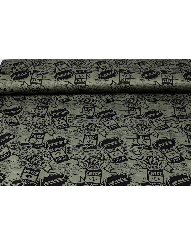Army Polyester Katoen Enyce Army Groen