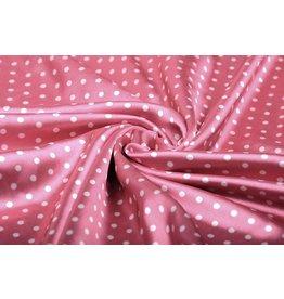 Poly Satin Dots Pink White
